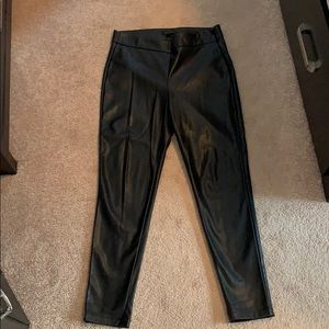 Perfect Black leather pants from Ann Taylor